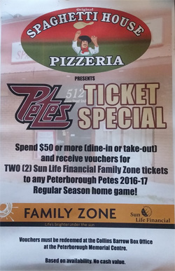 free peteshockey tickets